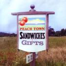 Peach Town Sign